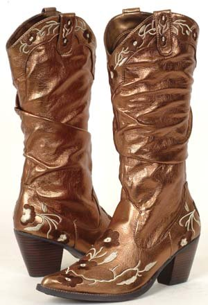 Cowboy dress boots bronze - Mexican pointy boots for sale