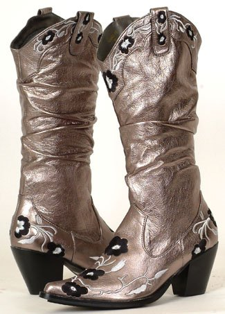 Cowboy dress boots Silver -Mexican pointy boots for sale